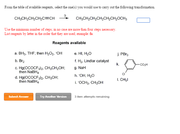 Solved from the table of available reagents select the o from the table of available reagents select the o thecheapjerseys Image collections