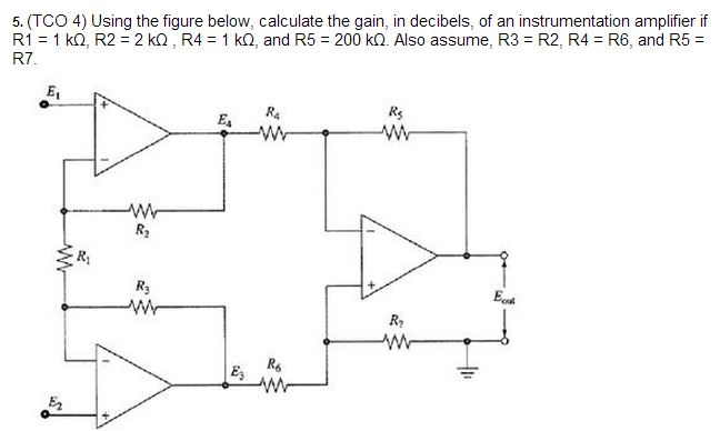 Using the figure below, calculate the gain, in dec