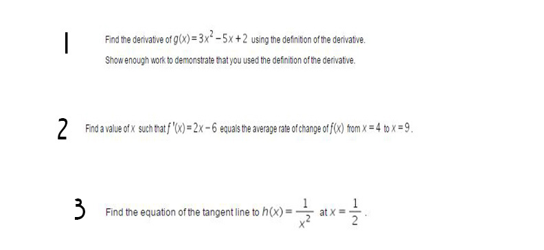 Find The Derivative Of G(x) 3x 5x+2 Using The Definition Ofthe