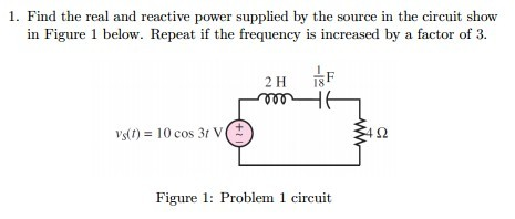 Find the real and reactive power supplied by the s