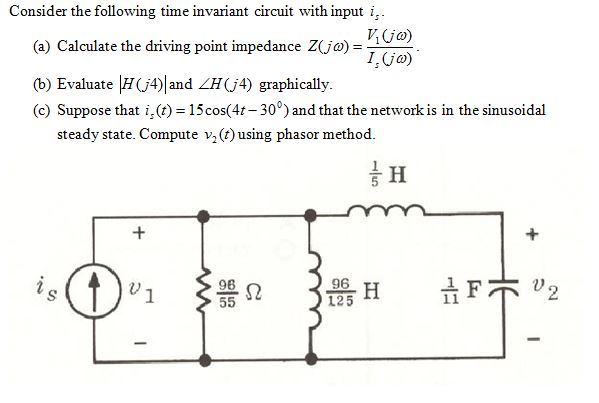 Consider the following time invariant circuit with