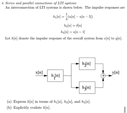 A Series and pamllcl connections of LTI systems An