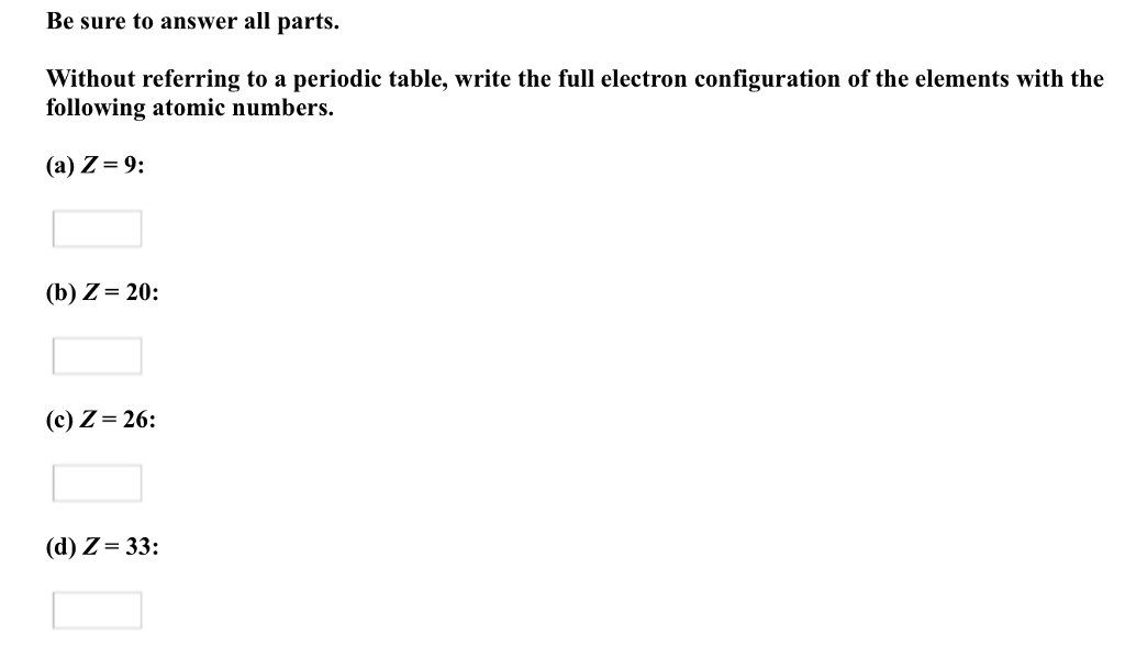 Solved without referring to a periodic table write the f without referring to a periodic table write the urtaz Images