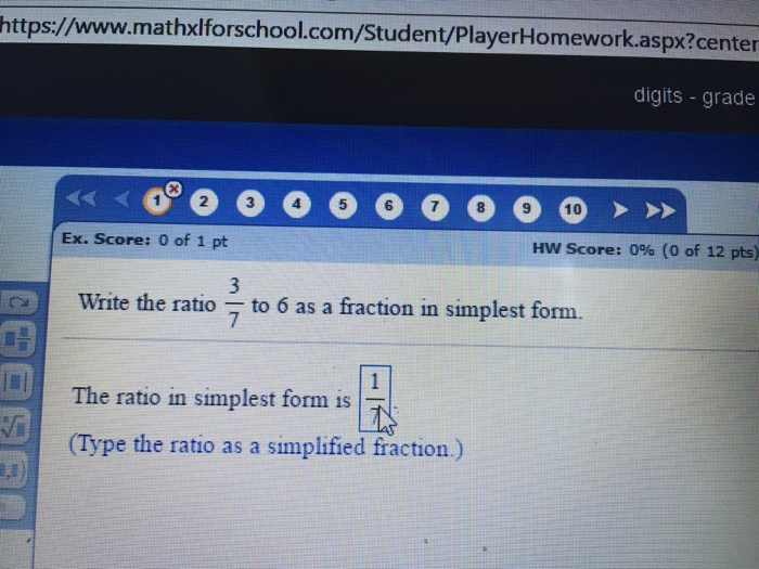 Write a ratio as a percent