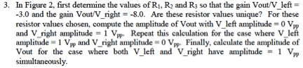 In Figure 2, first determine the values of R1, R2