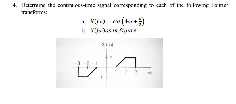 Determine the continuous-time signal corresponding
