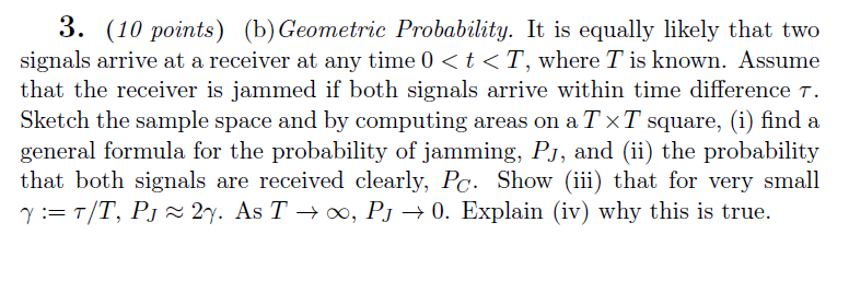 Geometric Probability. It is equally likely that t
