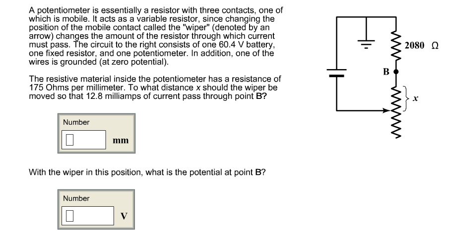 A potentiometer is essentially a resistor with thr