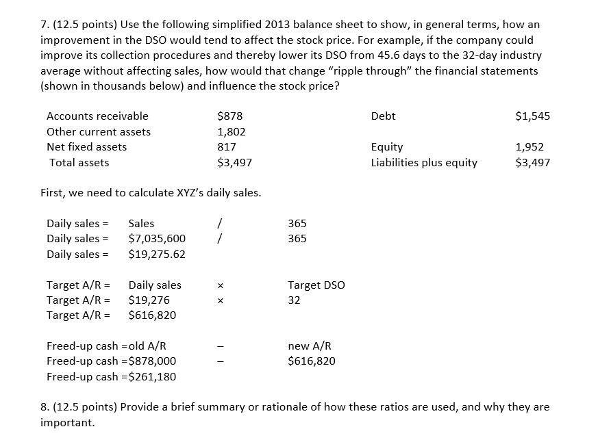 balance sheet and points Key points for balance sheet: provides a view of business' value at a specific point in time total assets and capital at year end must always balance, (hence the name.