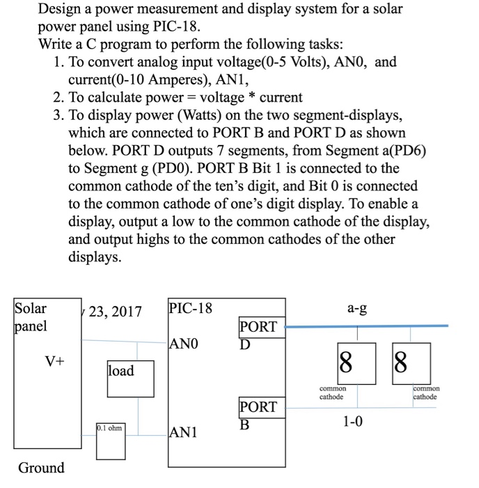 Design a power measurement and display system for