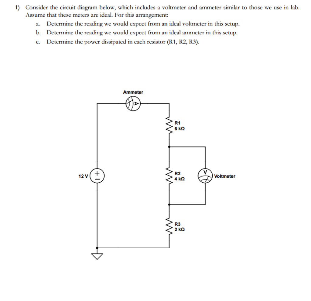 86 Simple Circuit Diagram With Ammeter And Voltmeter Suppose An Wiring Consider The Below Which Includes
