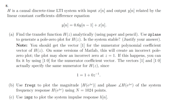 lti systems frequence response linear difference equations pdf