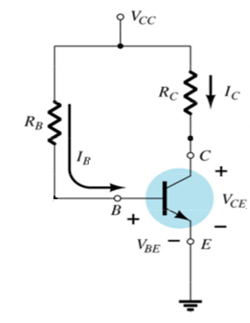 Assume Vcc = 15 V and RC = 3.3 k?, for the circu