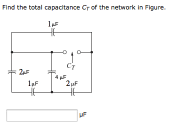 Find the total capacitance Ct of the network in Fi