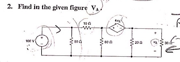 Find in the given Figure