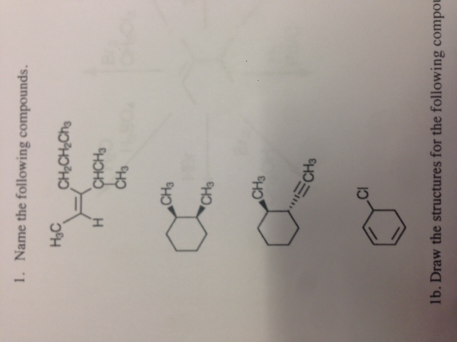 Draw the structures for the following compound (Z