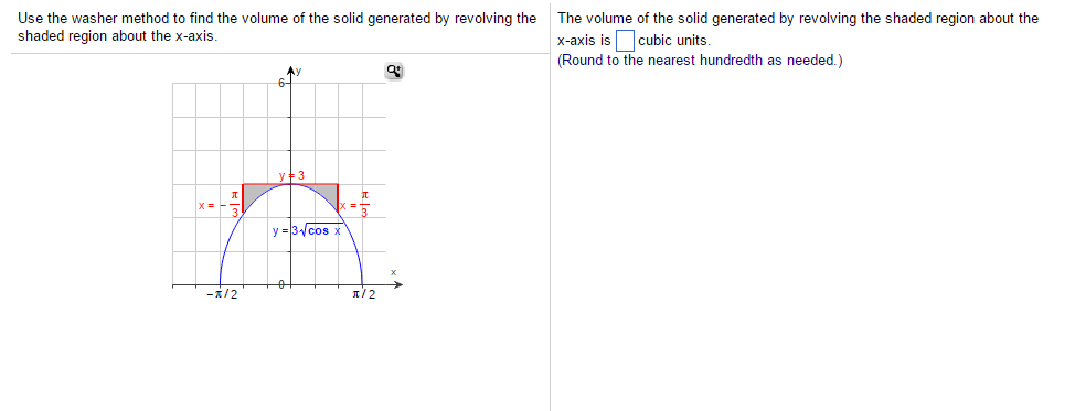 Use the washer method to find the volume of the so chegg question use the washer method to find the volume of the solid generated by revolving the shaded region ab ccuart Gallery