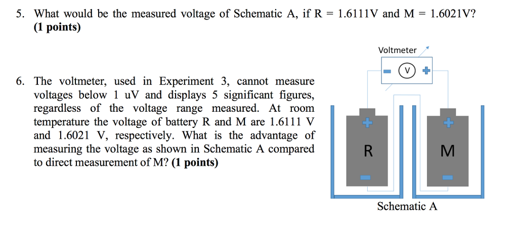 what would be the measured voltage of schematic a, chegg com voltmeter schematic voltage probe schematic