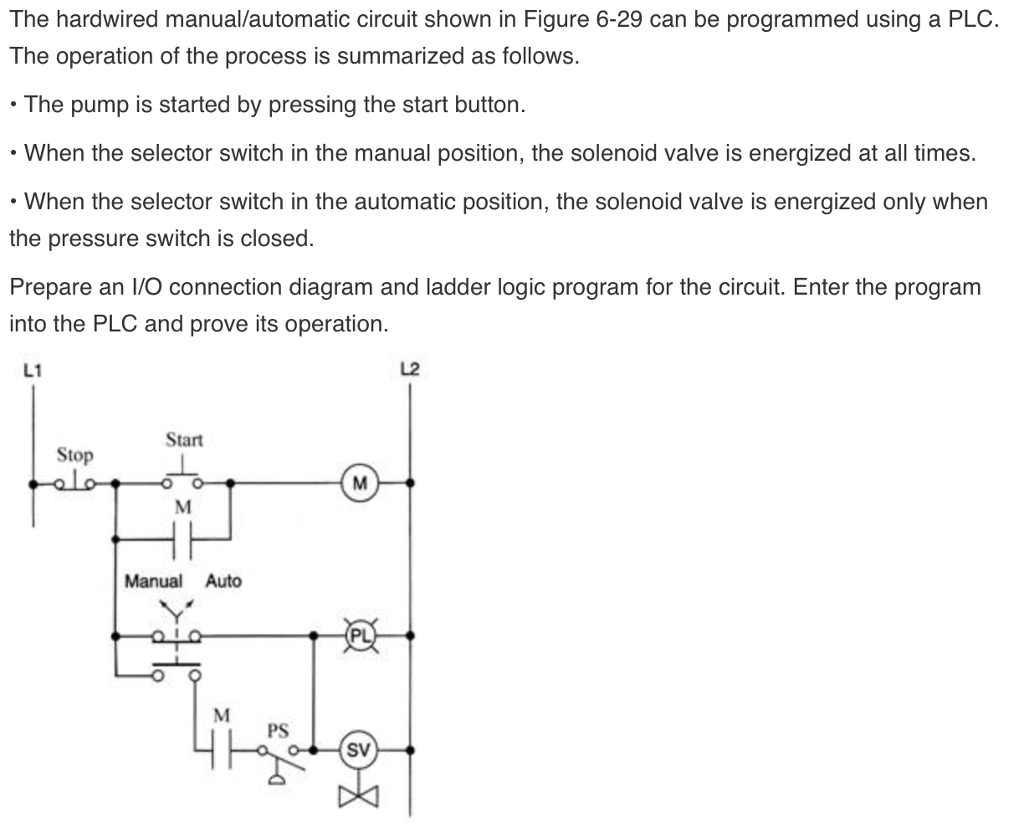 Solved  The Hardwired Manual  Automatic Circuit Shown In Fi