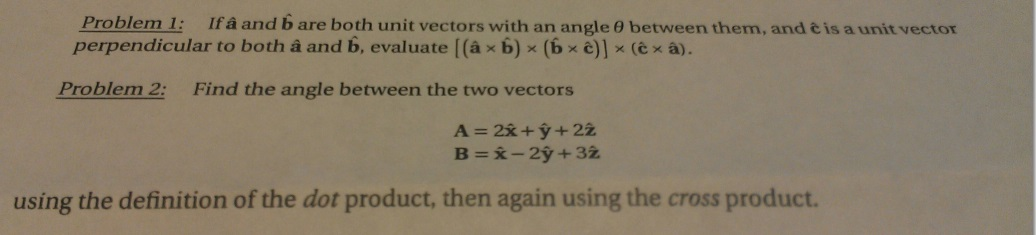 If a and b are both unit vectors with an angle the