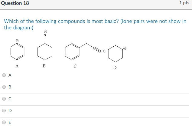 solved  1 question 18 which of the following compounds is