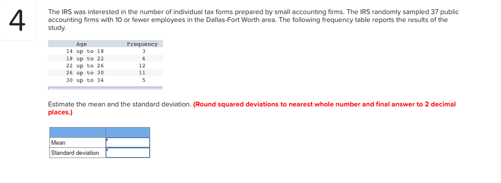 Solved The Irs Was Interested In The Number Of Individual