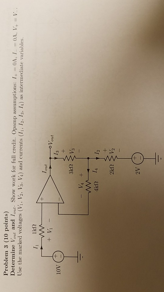 Problem 3 10 points Determine lout and