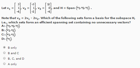 Determine Which Of The Sets Of Vectors Is Linearly... | Chegg.com