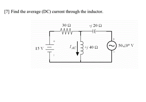 Find the average (DC) current through the inductor