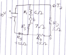 For the below circuit find: a) total resistance b)