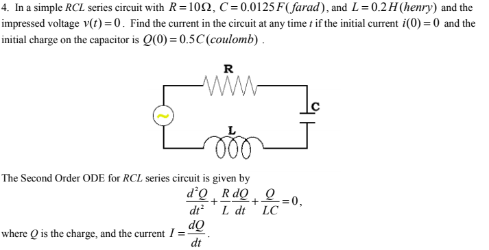 4 in a simple rcl series circuit with r 1 0 chegg in a simple rcl series circuit with r 1 0 c sciox Images