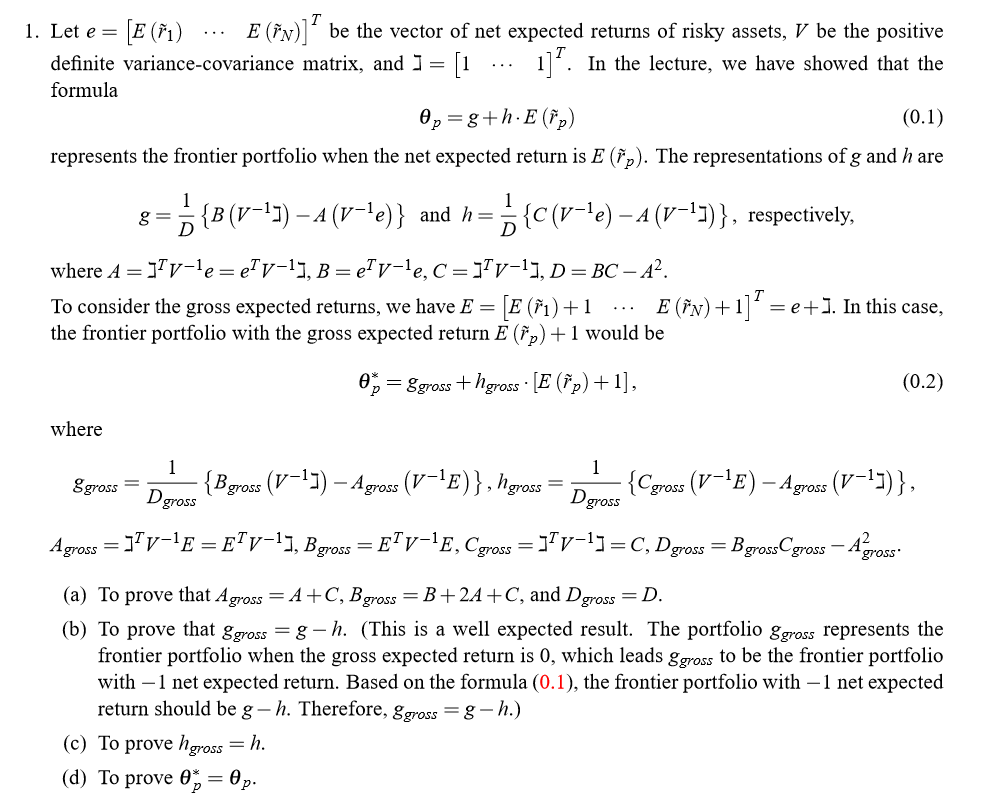 expected variance formula