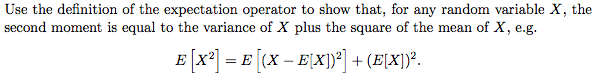 Use the definition of the expectation operator to