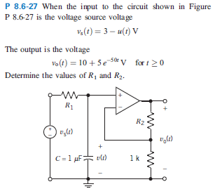 When the input to the circuit shown in Figure P 8.