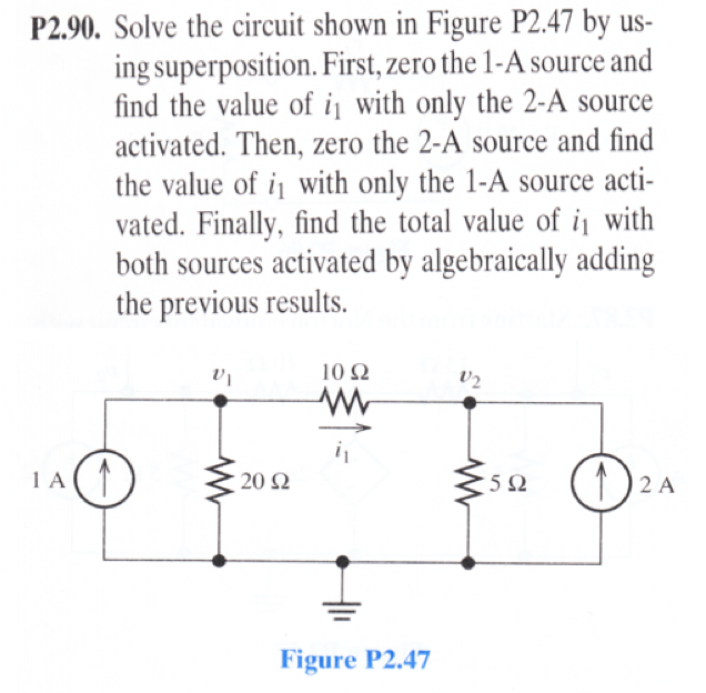 Solve the circuit shown in Figure P2.47 by using s