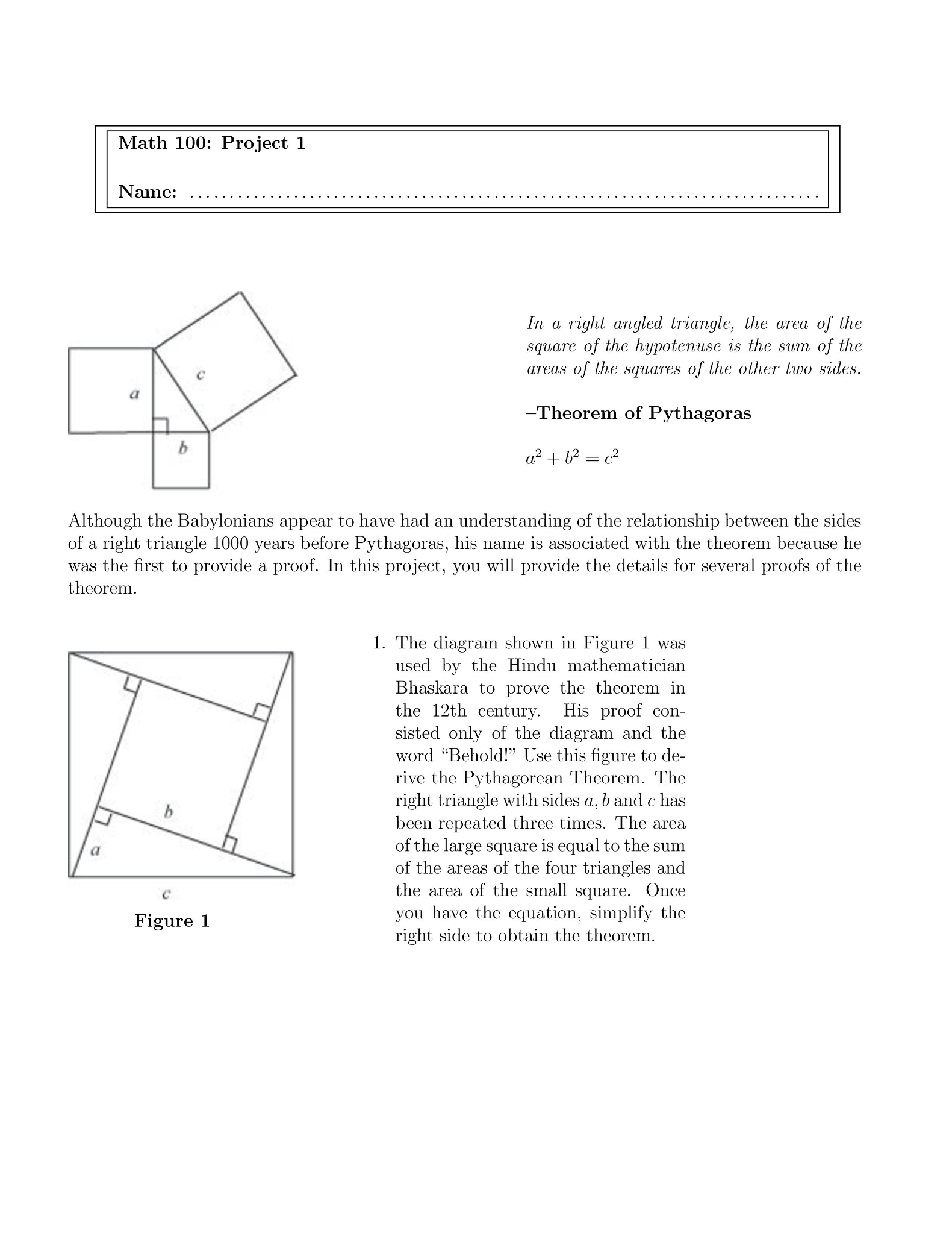In A Right Angled Triangle, The Area Of The Square