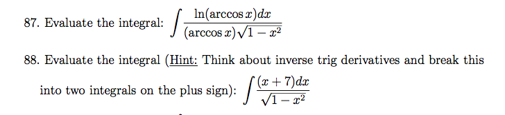 Derivatives and integrals of expressions with e homework answers