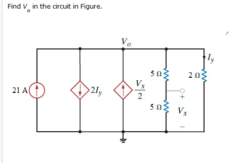 Find Vo in the circuit in Figure.