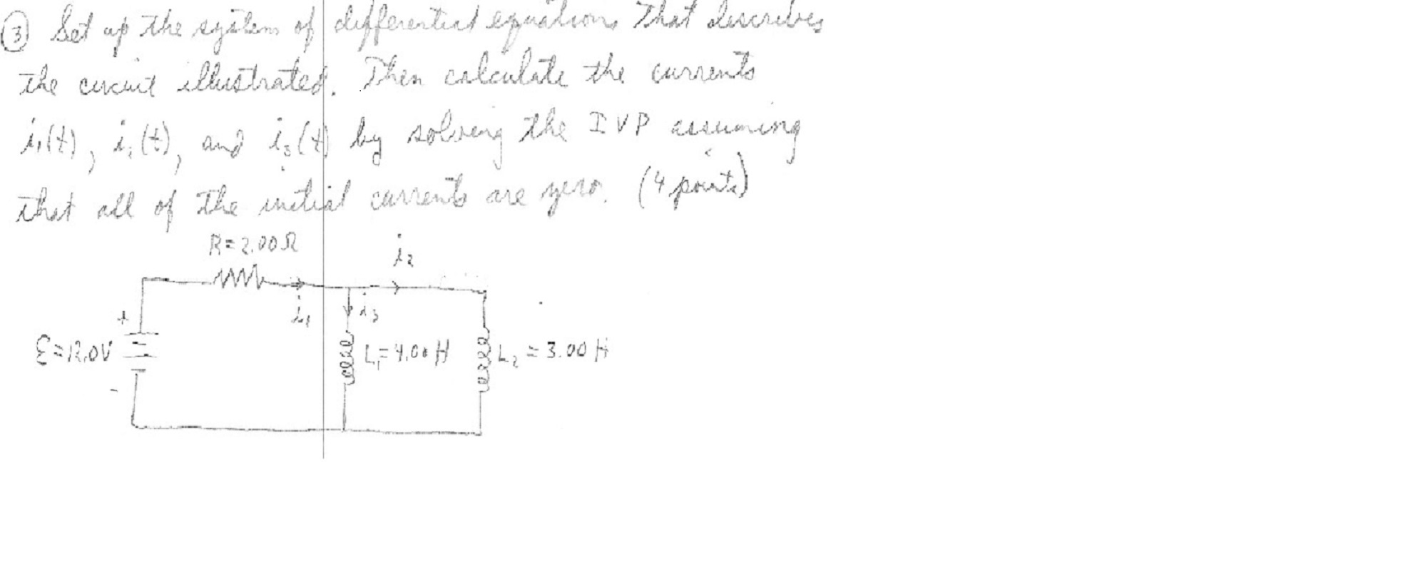 Set up the system of differential equation that de