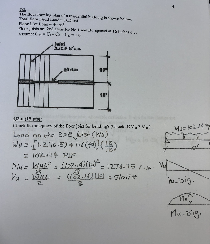4 03. The Floor Framing Plan Of A Residential Buil... | Chegg.com