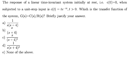 The response of a linear time-variant system initi