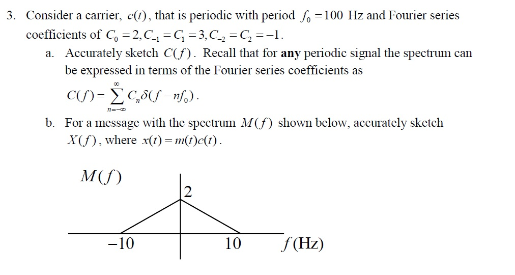 Consider a carrier, c(t), that is periodic with pe