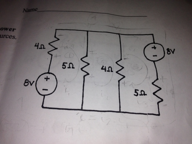 in the circuit shown find