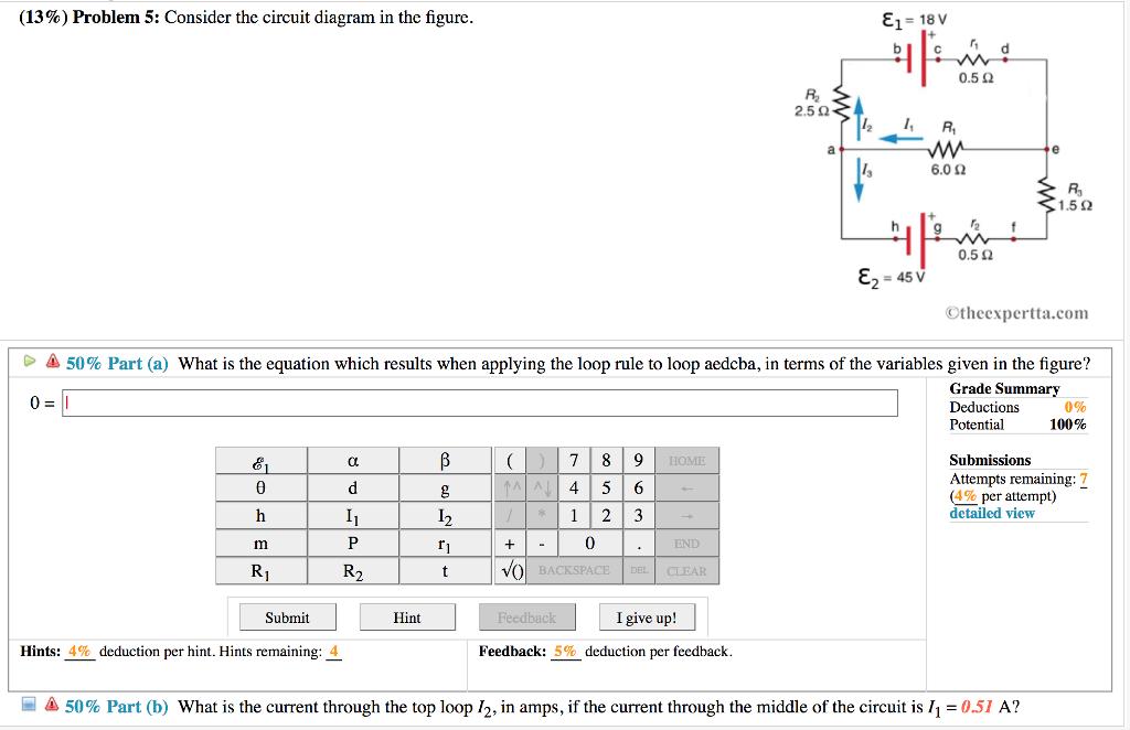 Grade 9 circuit diagram problems wiring diagram solved 13 problem 5 consider the circuit diagram in t sound circuit diagram grade 9 circuit diagram problems ccuart Choice Image