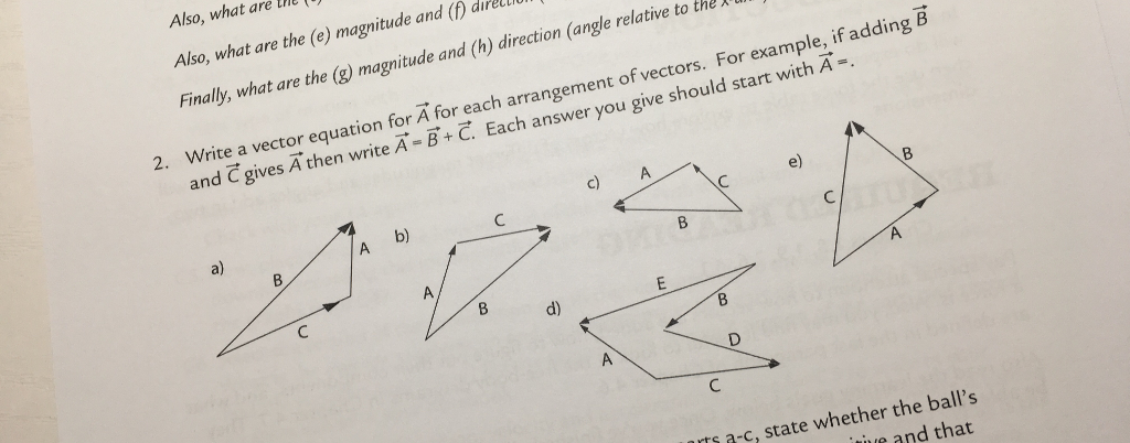 Solved: Write A Vector Equation For A For Each Arrangement ...