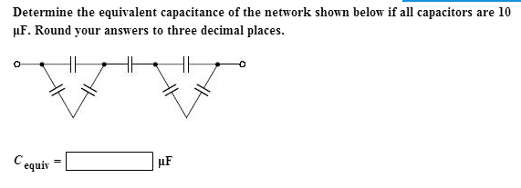 Determine the equivalent capacitance of the networ