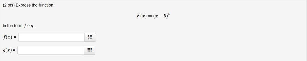 2 Pts) Express The Function Fa) (a- 5) In The For... | Chegg.com