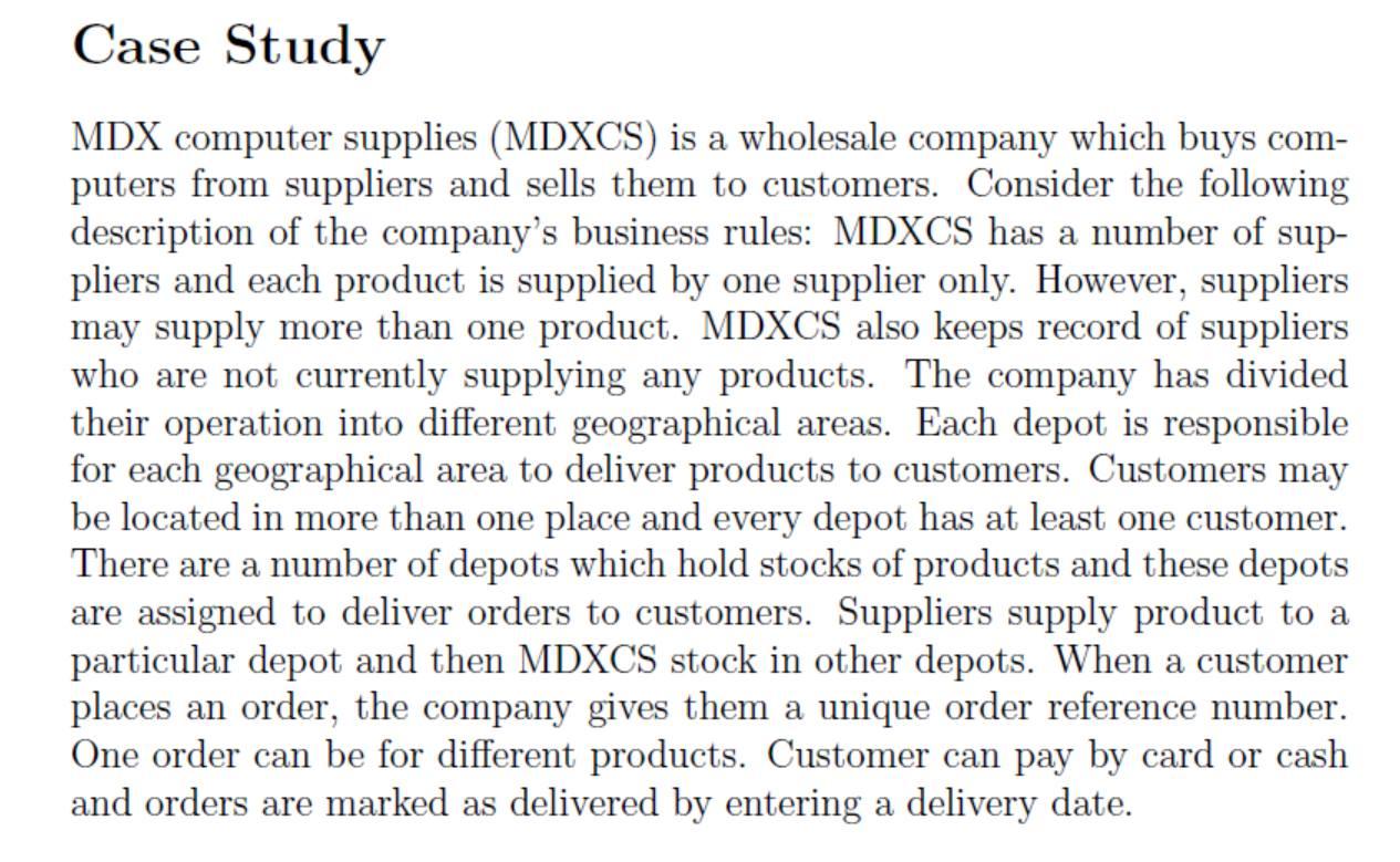 case study idx computer supplies mdxcs is a whol com expert answer
