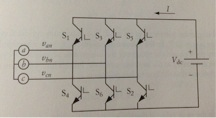 The three-phase circuit shown below is used to dis