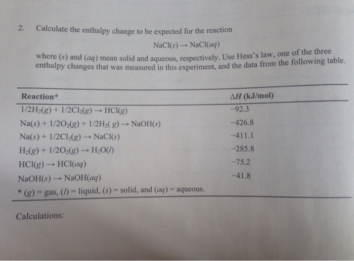 how to calculate enthalpy change reaction